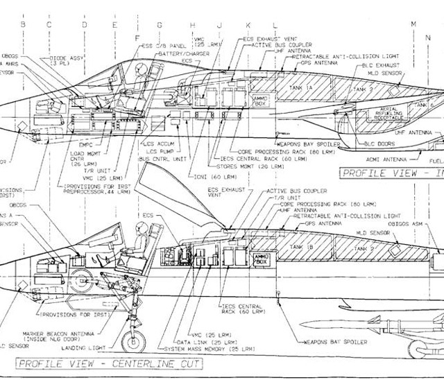 Design of the YF-23 Black Widow
